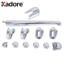 For Kia Sportage 2007 2008 2009 2010 ABS Chrome Rear Window Wiper cover trims Car Styling Auto Accessories 12pcs