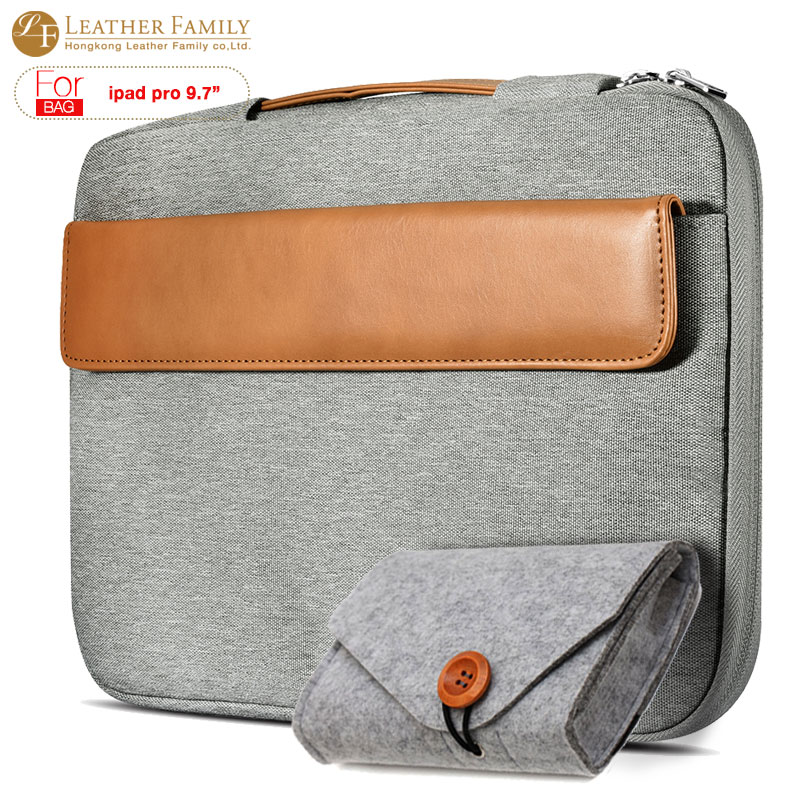 SauceDa Tablet Sleeve Pouch Case for iPad Pro 9.7 inch cover for iPad air 1/2 Laptop Sleeve Liner case with Handle &amp; mouse pouch<br>