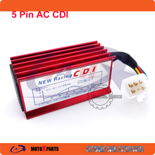 Red 5 Pin Racing AC CDI For 50cc 110cc 125cc 140cc 150cc 160cc SSR Thumpstar Pit Dirt Bikes