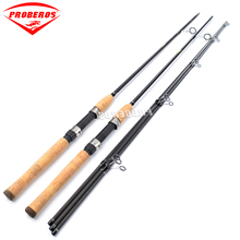 1pc Fishing Rod 1.8m/2.1m 40T High Carbon Lure Rod Matte Black Color Spinning Hand Fishing Tackle Sea Rod