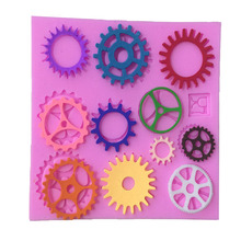1PCS Food Grade Silicone Many Kinds Of Gear Shape For Silicone Cake Molds, Fondant Cake Decorate M038(China)