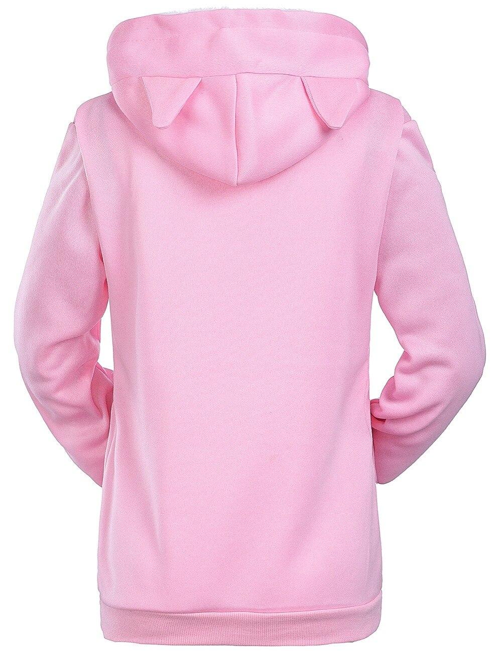 17 New Cartoon Hooded Hoodies Lover Cats Kangaroo Dog Hoodie Long Sleeve Sweatshirt Front Pocket Casual Animal Ear Hoodie 4