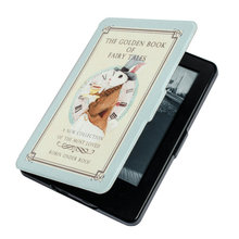 1:1 Stained Leather Cover Case for Amazon Kindle Touch 7th Generation New 2014 Ebook Reader with sleep and wake up+film+stylus