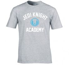 New Summer Style Unny Novelty Hip Hop Rock T-Shirts Men Jedi Knight Academy Casual Men's Streetwear Short Sleeve T Shirts(China)