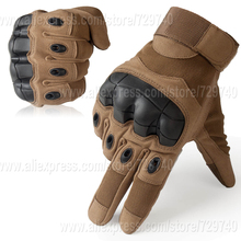 Touch Screen Tactical Gloves Military Army Paintball Airsoft Combat Motorcross Carbon Knuckle Full Finger Gloves(China)