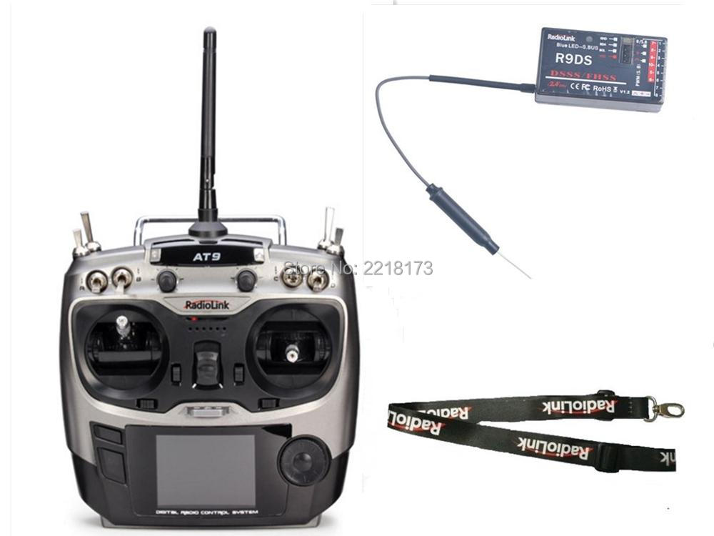 100% original authentic Radiolink AT9 2.4GHz 9 Channel Transmitter with R9DS Radio &amp; Receiver for RC Hobby<br><br>Aliexpress