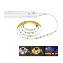 PIR Motion Sensor LED Strip Light 2835 SMD 60leds/mWaterproof Bed Cabinet Closet 1m 2m 3m Lamp 5V USB / Battery Charge Optional(China)