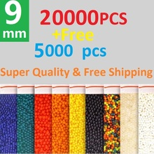 The Biggest 25000Pcs 9mm Colour SOFT CRYSTAL WATER PAINTBALL BULLET GUN TOYS BIBULOUS WATER GUNS ACCESSORIES GROW PLANTS(China)