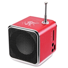 Bluetwos TD-V26 Portable Radio Speaker With LCD Display Support Micro SD/TF Music Player Digital FM Compatible With Laptop/Phone