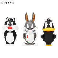 XIWANG animal u disk series cat lion rabbit USB2.0 flash disk pendrive4GB 8GB 16GB 32GB 64GB animal pen drive gift free shipping(China)