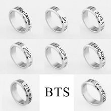 8 Style Bangtan Boys BTS Album Ring Rap Monster Jimin Jin Suga V J-Hope Jung Kook Jewelry Rings Accessories For Men Women Female(China)