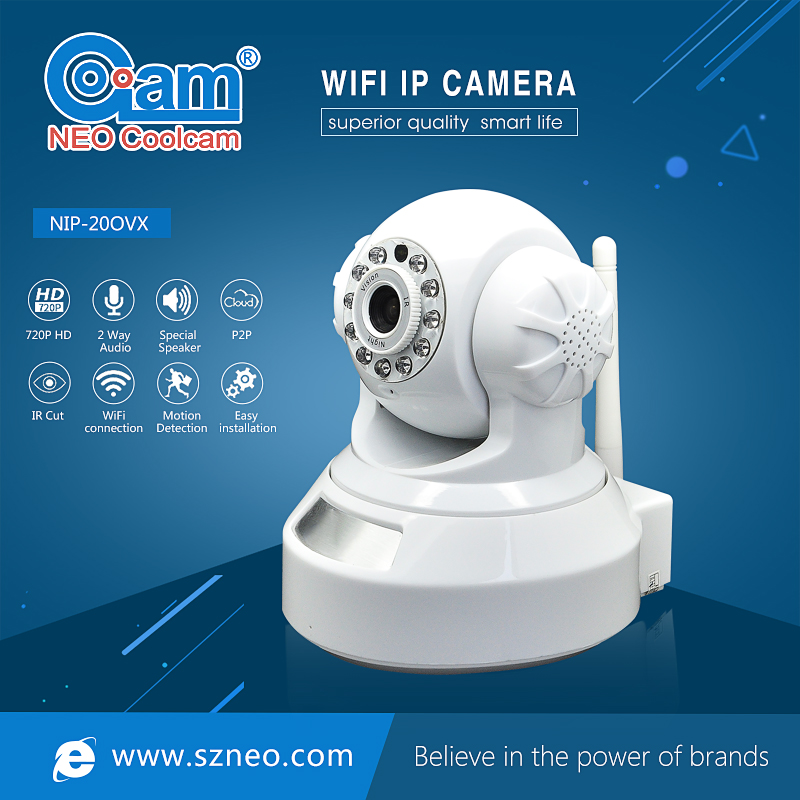 NEO Coolcam NIP-20OVX 720P HD IP Camera Wifi Network IR Night Vision CCTV Video Security Surveillance Cam,Support iPhone,Android