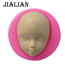 Woman girl face cooking tools wedding decoration Silicone Mold DIY head Fondant Sugar Craft baking tools for cakes T0659