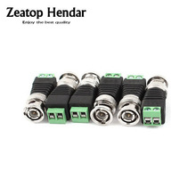200Pcs CCTV BNC Connector Cat5 to BNC Male Coaxial Connector CCTV Camera for Video Balun Connection