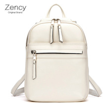 ZENCY Luxury Design Oil Wax Cowhide Leather Backpacks Women Teenager Genuine Leather Backpack Real Leather Woman Tote Bags