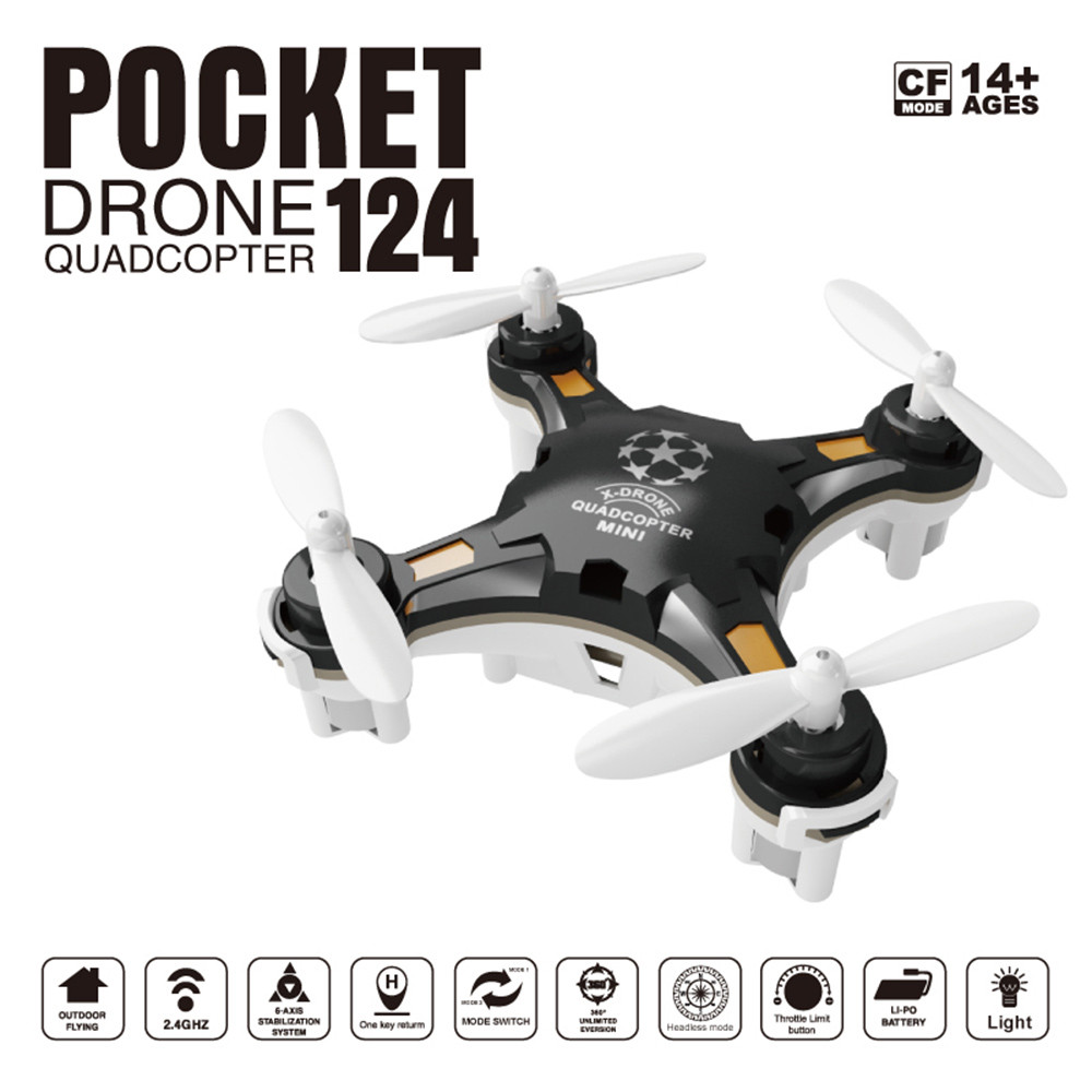 FQ777-124 RC Drone Mini Quadcopter Micro Pocket 4CH 6Axis Gyro Switchable Controller Helicopter Kids Toys VS JJRC H20 H36 Drones(China (Mainland))