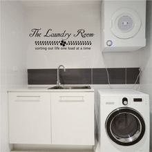 "The Laundry Room Vinyl Wall Decal - Sorting life out one load at a time - Home Decor 22"" x 7"""