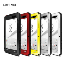 For Sony Xperia Z5 Compact Case Shockproof E5823 E5803 Waterproof Gorilla Glass Metal Aluminum Cover For Sony Z5 Z 5 Mini Cases