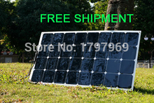 Solarparts 1PCS  free shipment 100W flexible solar panel 12V solar cell/module/system RV/car/marine/boat battery charger .