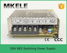 low ripple noise 48v NES-35-48 0.7A 35W Single Output Adjustable Switching power supply for LED Strip light AC-DC Converter(China)