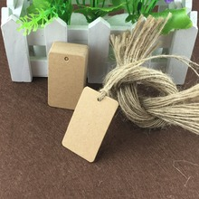 Kraft Price Hang Tags Hand made Gift Tag Retro Paper Cards For Jewelry/Boxes/Handicraft/Books 1Lot=200PCS Tags+200PCS Strings(China)