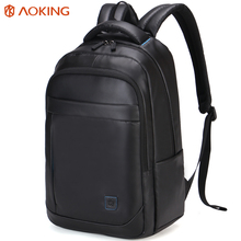 Aoking Waxy Waterproof Stylish Backpack Men Business Dress Urban Backpack for 15 inch Laptop Computer Rucksack School Bag