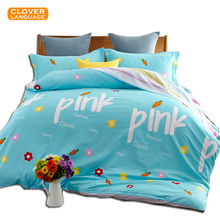 European-style 100% Cotton Home Textile Bedding Printed Denim Quilt 1pcs, Pink / Blue Adults Children Quilt, Free Shipping