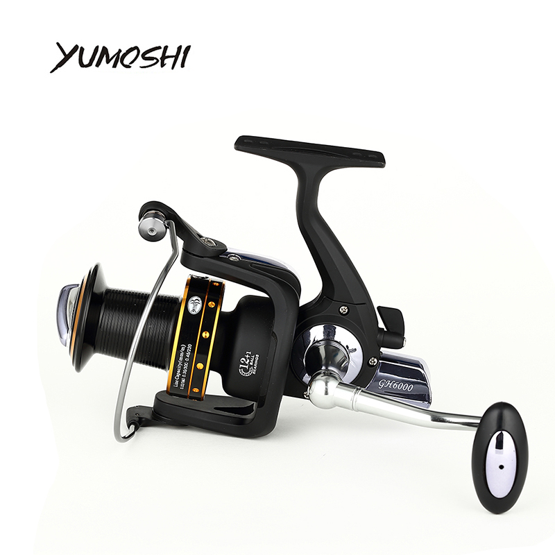 YUMOSHI 2017 Fishing spinning reel 7000 8000 13+1BB saltwater high-profile upscale boutique CNC rocker arm fishing reels<br>