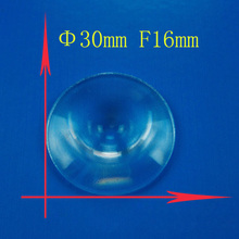 2PCS 30mm Dia Small Round Plastic Solar Fresnel Condense Lens Focal Length 16mm for Projector Plane Magnifier,Solar Concentrator(China)