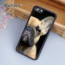 MaiYaCa French Bulldog dog fashion soft mobile cell Phone Case Cover For iPhone 7 Plus Custom DIY cases luxury shell(China)