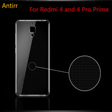 Antirr Ultra Thin 0.5mm Clear Transparent Silicone Case For Xiaomi Redmi 4 TPU Soft Crystal Case Cover for Redmi 4 Pro Prime #40