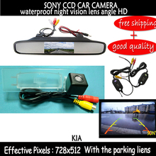 Wireless Color SONY  CCD Chip Car Chip Rear View Camera for Kia Optima 2010 2011 / KIA K5 + 4.3 Inch rearview Mirror Monitor