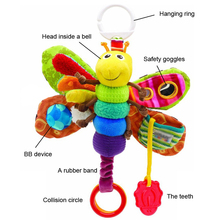 Baby Toys Musical Inchworm Plush Toy Toddler Infant Kids Toys Fly Honey Bee Toys Wrist Rattles Free Shipping