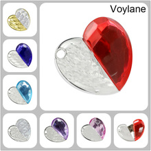 Voylane Best selling 32GB jewelry heart USB Flash Drive, Crystal Heart USB Flash Drive Disk Necklace 2GB/4GB/8GB/16GB/32GB