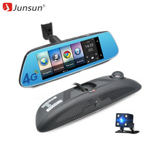 "Junsun K716 Car Mirror Video 8"" 4G DVR Camera Android 5.1 with GPS DVRs Automobile Recorder Rearview Mirror Camera Dash Cam(China)"