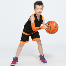 Boys Throwback Basketball Jersey Girls Blank Custom Design Basketball Uniforms Youth Kids Breathable Basketball Jerseys+Shorts