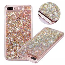 Hot Glitter Dynamic Liquid Diamond Quicksand Case For iPhone 8 5 5S 6 6S 6Plus 6SPlus 7 7Plus Hard Phone Protective Back Cover