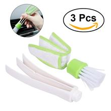 3Pcs Duster Double Ended MicroFiber Vent Duster Brush for Car Air Outlets Quick Cleaner with Portable Precision Dusting Tool