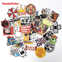 50 Pieces Do Not Repeat Waterproof Fashion cool Fun Stickers PVC sticker for Snowboard Laptop Luggage bags handbag Toy Doodle(China)