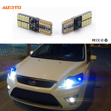 2x T10 W5W Canbus LED Car Parking Light For Ford Focus 2 3 1 Fiesta Mondeo MK4 4 Fusion Ranger Mustang Kuga Transit KA Ecosport