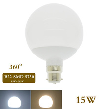 B22 LED Ball Lamp 7W 9W 15W LED Light 85-265V Spotlights Bulb SMD 5730 Lampada LED Global Bulb Chandelier 360 Degree Bombillas