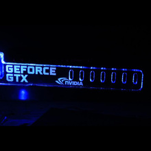 Blue GeForce GTX LED Luminous Computer Office Main Box HIS-K5 Graphics Cards Custom Support Frame Display Card Components Jack(China)
