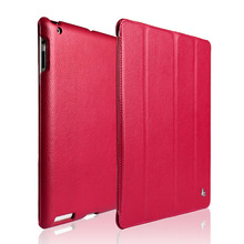 Jisoncase Luxury Smart Case For iPad 4 3 2 Cover Magnetic Stand Leather Auto Wake up/Sleep Cover For iPad 2 3 4 Case Funda Capa(China)