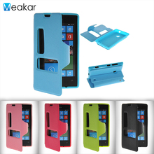 Double View Window Flip Leather 4.0for Nokia Lumia 520 Case For Microsoft Nokia Lumia 520 525 Cell Phone Cover Case