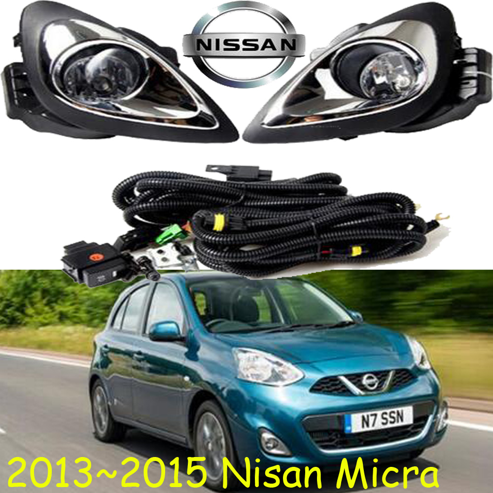 car-styling,Micra halogen light,2013~2015,Free ship!2pcs,Micra fog light;car-covers,Micra headlight<br>