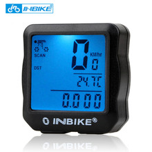 INBIKE Bike Bicycle Speedometer Bicycle Computer Digital Backlight Waterproof Odometer Clock Stopwatch Computer Bike Accessories(China)