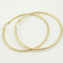 Gokadima Women Earrings, 20mm-70mm EARING HOOP,small or large basketball wives Stainless Steel Hoop Earrings, Party Jewelry(China)