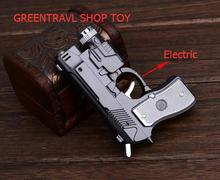 hot sale Electric Shock Led Pistol lighter Gun toy 3 in 1 function Joke Prank Trick Funny toy