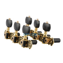 Alice AOS-020HV3P Acoustic Classical Guitar Gold / Black Plated Tuning Keys Pegs String Tuner Machine Head(China)