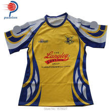custom own design rugby wear breathable rugby shirts with sublimation(China)